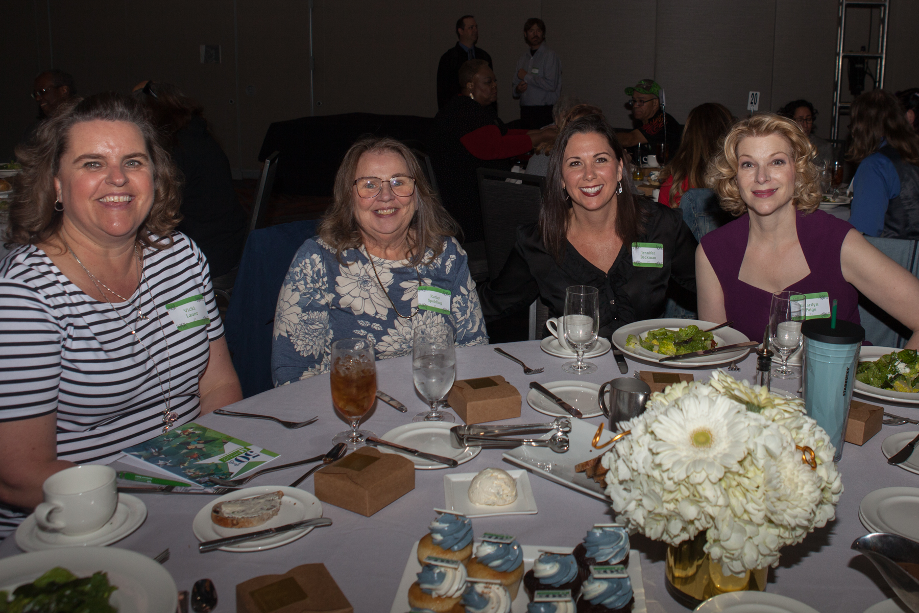 Bayaud 50th Luncheon - Vicki Lauer Kathy Spaulding Jennifer Beckman Marilyn Paige